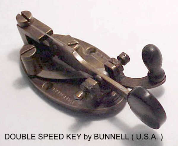 F5LAW's Bunnell Double Speed Key, click to enlarge picture.