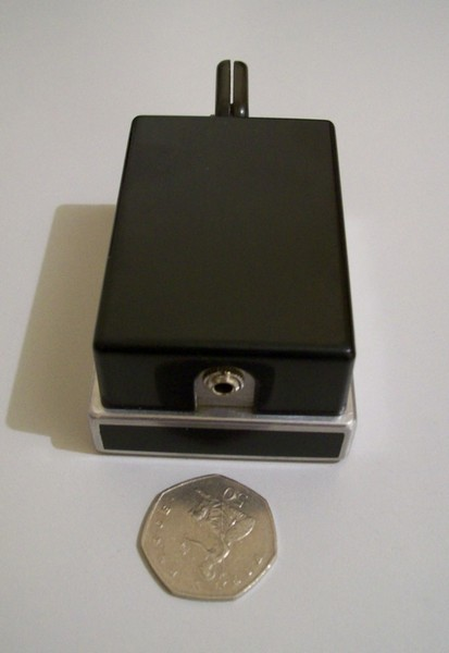 G0JWB's Homebrew Micro Key, rear view, click to enlarge picture.